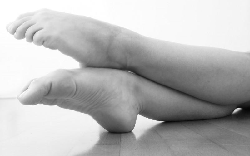 Füße strecken